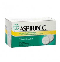 ASPIRIN C TAB 400MG  20)